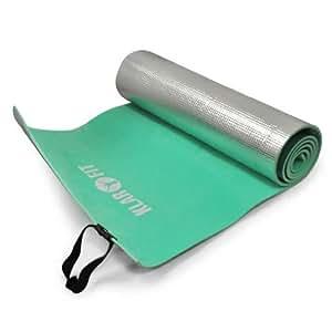 Klarfit Tapis de Yoga 6mm - Coussin de Gymnastique Anti Glisse (190x49cm) - Vert Pomme