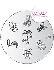 Plaque disque motifs M28 Konad stamping nail art