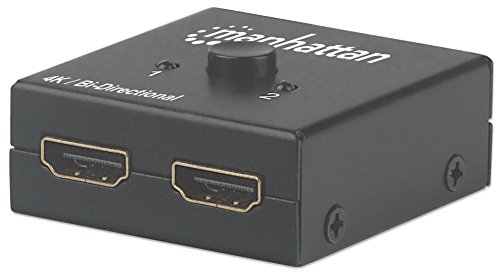 Manuelle Auswahl (Manhattan 207850 4K bi-direktionaler 2-Port HDMI-Splitter/Switch