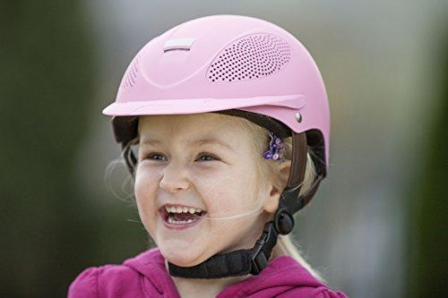 Reithelm Comfort Training und Glamour USG Drehknopf Verzierung Zertifiziert Farbe pink, Größe XS-S (48-52)