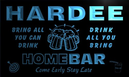 q18847-b-hardee-family-name-home-bar-beer-mug-cheers-neon-light-sign