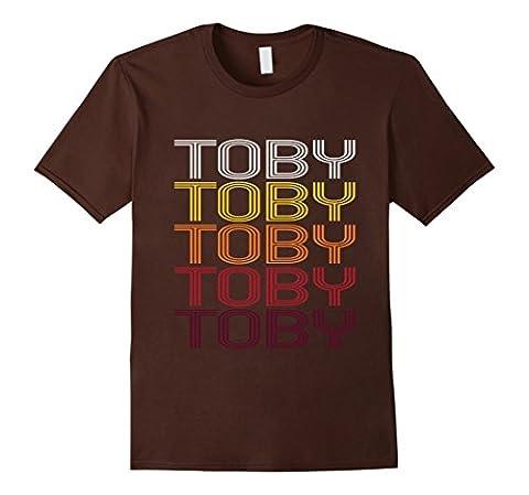 Men's Toby Retro Wordmark Pattern - Vintage Style T-shirt XL