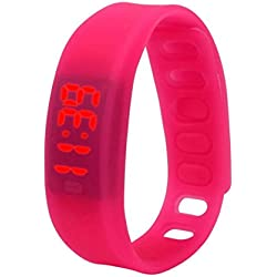FEITONG 2016 Fashion Womens Mens Rubber Date Sports Running LED Watch
