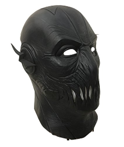 UK Halloween Karneval Cosplay Schwarz Latex Cosplay Voller Kopf Helm Maske - universell Größe Zoom ZOOMER (Masken Flash)