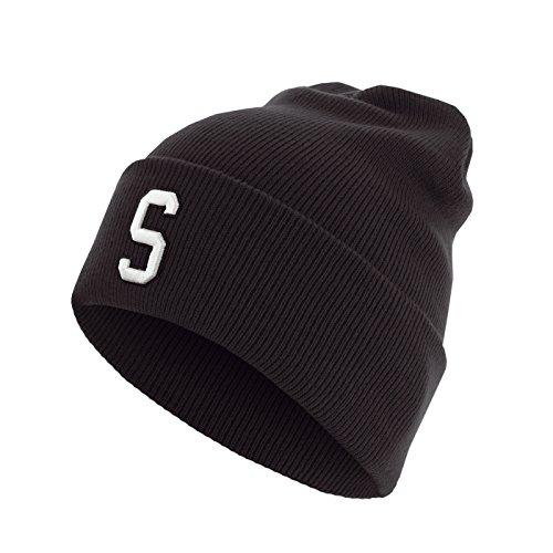 Master Dis C3 Lettre Cuff Knit Bonnet ABC Lettres bonnet S