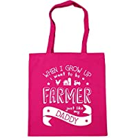 HippoWarehouse When I Grow Up I Want to be a Farmer Just Like My Daddy kids unisex Hoodie hooded top Tote Shopping Gym Beach Bag 42cm x38cm, 10 litres