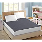 AVI Waterproof And Dustproof Small Twin Size Bed Fitted Mattress Protector For Complete Protection Of Your Mattress- Dark Grey (48 X 75 Inches)