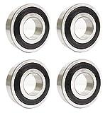 4x 6204 2RS / 2RSR / 2RS1 Kugellager (4er Pack) 20x47x14 mm/Industriequalität/Innendurchmesser 20mm 6204rs