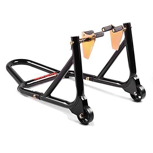 ConStands - Montageständer Vorderrad mit gummierten Aufnahmen Schwarz Motorradheber vorne -