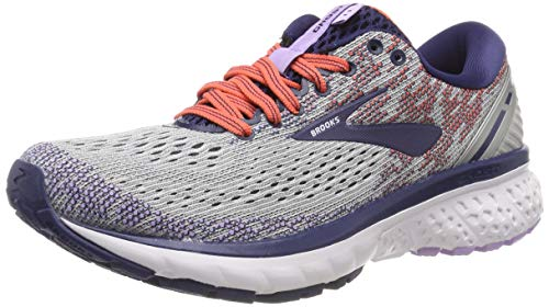 Brooks Ghost 11, Scarpe da Running Donna, Grigio (Grey/Blue/Coral 005), 37.5 EU