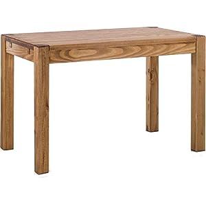 Brasilmöbel Esstisch Rio Kanto 120x80 cm Brasil Pinie Massivholz Größe und Farbe wählbar Esszimmertisch Küchentisch Holztisch Echtholz vorgerichtet für Ansteckplatten Tisch ausziehbar