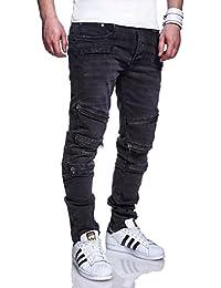 MT Styles fermeture éclair Jeans Slim Fit Pantalon homme RJ-1153