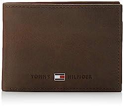 Tommy Hilfiger Herren Johnson Mini CC Flap and Coin Pocket Geldbörsen, Braun (Brown 041), 11x8x2 cm