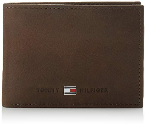 Tommy hilfiger johnson mini cc flap and coin pocket, portafoglio uomo, marrone (braun (brown 041), 11x8x2 cm (b x h x t)