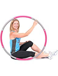 ResultSport® The Original Foam Padded Level 1 Weighted 1.2kg (2.65lbs) Fitness Exercise Hula Hoop 100cm wide