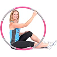 ResultSport The Original Foam Padded Level 1 Weighted 1.2kg (2.65lbs) Fitness Exercise Hula Hoop 100cm wide
