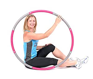 ResultSport® Level 1 Foam Padded Weighted 1.2kg Fitness Exercise Hula Hoop