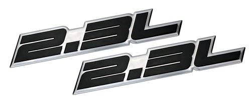 2 x (pair/Set) 2.3L Liter Embossed BLACK on Highly Polished Silver Real Aluminum Auto Emblem Badge Nameplate for Ford Ranger XL XLT Pinto Mustang II 2 LX Tempo GL Thunderbird Focus ZX4 Escape XLS Hybrid Fusion S SE Chevrolet Beretta Cavalier Dodge Mercury Milan Mariner Hybrid Capri RS Buick Skylark Audi 80 90 100 5000 Quattro Coupe 850 T5 Saab 9-5 Volvo C70 240 GT DL S60 V70 T5 BMW M3 E30 Mercedes Benz 190 200 Series SLK 230 Kompressor C Class Land Rover 2A iia Sedan coupe Wagon 2 3 4 5 2dr 3dr