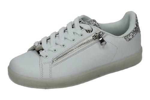 DEMAX , Chaussures de fitness pour femme Blanc - argenté