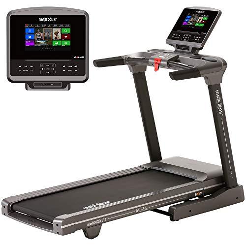 """Laufband MAXXUS RunMaxx 7.4 - Vielseitig Einsetzbare, Klappbare Treadmill - 20Km/h, 3 PS DC-Motor - Große Lauffläche Für Sicheres Trainingsgefühl - 10.1\"""" High-Res. TFT-Display - Ideal Für Zuhause"""