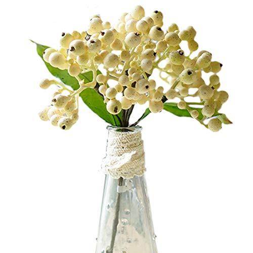 AUTOP Blumenstrauß aus künstlichen Blumen Kleiner Ginkgo Dekoration Shooting Requisiten DIY Blumenarrangement Schaum Kunststoff Blumen Frisch Seidenblume Beige 28cm
