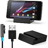 Malloom® para Sony Xperia Z2 magnético USB W/LED Cable + Cargador Dock negro