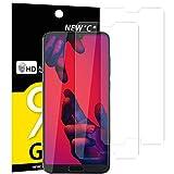 NEW'C Verre Trempé pour Huawei P20 Pro,[Pack de 2] Film Protection écran - Anti Rayures - sans Bulles d'air -Ultra Résistant (0,33mm HD Ultra Transparent) Dureté 9H Glass
