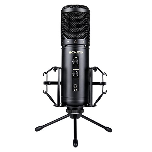 BC Master USB PC Condenser Microphone Recordings with stand, for PC Home  Studio Skype FaceTime YouTube Google Voice Search Games, Compatible with