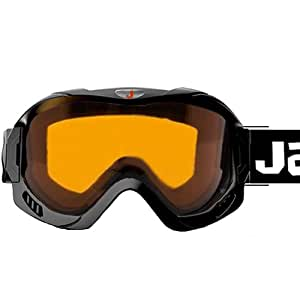 Jazooli Ski Skiing Snow Snowboard Goggles with Clear Vented Lens - Black
