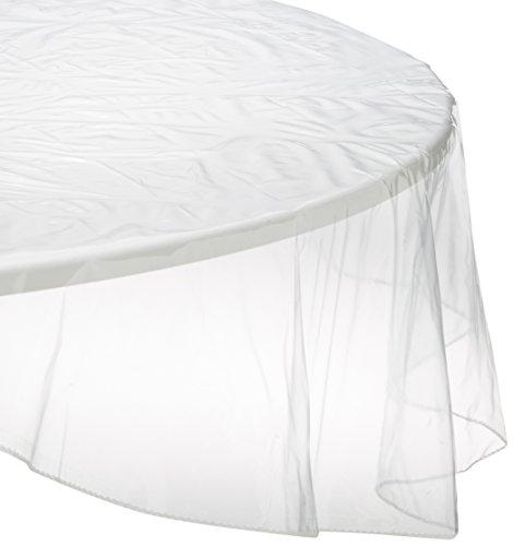 Soleil d'ocre Runde Tischdecke transparent Durchm. 140 cm Cristal