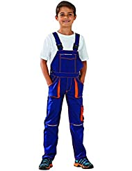 6121 Planam Junior Latzhose marine/orange