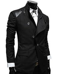 Zicac - Veste de costume homme par coton mélange des boutons de biais très spécial unique