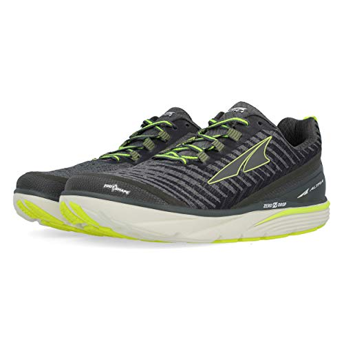 Altra Men Torin 3.5 Knit Neutral Running Shoe Running Shoes Dark Grey - Lemon 9