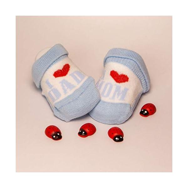 De regalo de calcetines para bebé Regalo único para baby shower o recién nacido para niños y niñas 1 par 0-3 meses 5