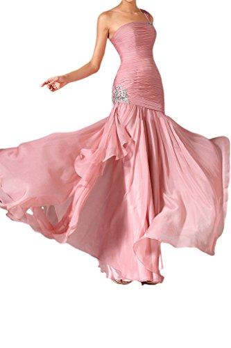 ivyd ressing robe ligne moderne un étui épaule mousseline Party Prom robe robe du soir Rose - Rose