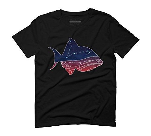 Pisces Constellation Design Men's Graphic T-Shirt - Design By Humans Black