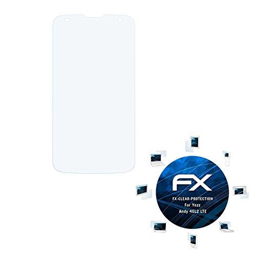 atFolix Schutzfolie kompatibel mit Yezz Andy 4EL2 LTE Folie, ultraklare FX Bildschirmschutzfolie (3X)