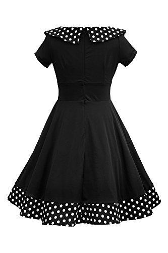 Rhianna' Vintage Polka-Dots Swingkleid - 2