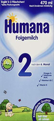 Humana Folgemilch 2 trinkfertig, 12er Pack (12 x 470 ml)
