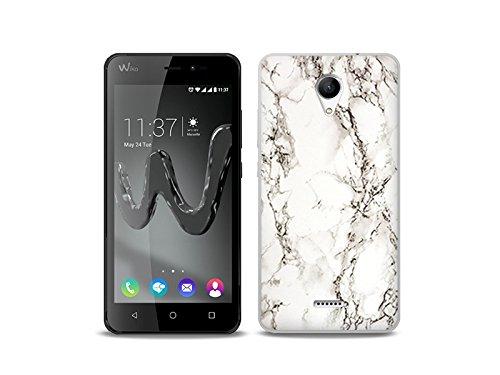 etuo Handyhülle für Wiko Freddy - Hülle Fantastic Case - Weißer Marmor - Handyhülle Schutzhülle Etui Case Cover Tasche für Handy