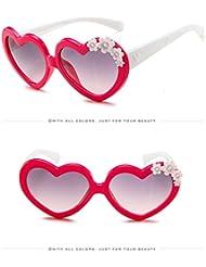 Xiaochou@sl Für Jungen und Mädchen im Alter von 3-10 Jahren, Verschiedene Herzensonnenbrillen klar