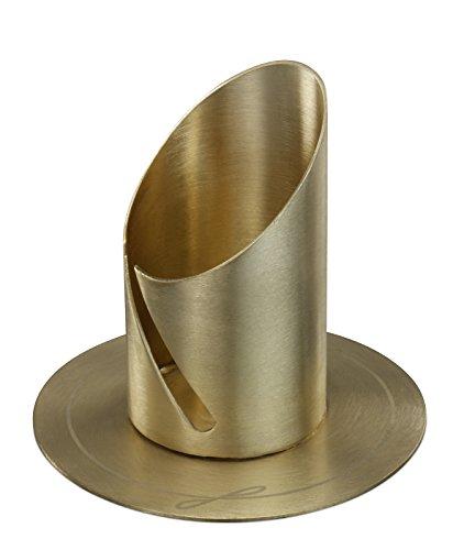 Motivationsgeschenke Kerzenhalter Kommunion goldfarben Ø 9 cm für Kerze: Ø 4 cm Kerzenständer
