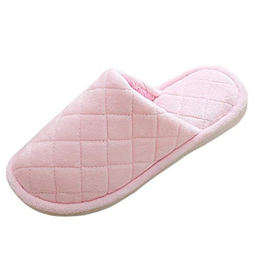 Watopi Plüsch Hausschuhe Winter Baumwolle Pantoffeln für Unisex Hausschuhe Super Warme Plüsch Hausschuhe und Indoor Weiche rutschfeste Slippers