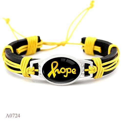 CXKNB Bracelets De Papillon De Cancer du Sein l'allaitement Maternel Est Mon Droit Jaune Orange Rose Ruban en Cuir Charme Bracelets Femmes Hommes Bijoux