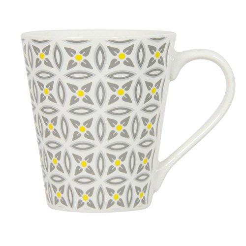 Novastyl Mug en Porcelaine Aristo - Blanc décoré