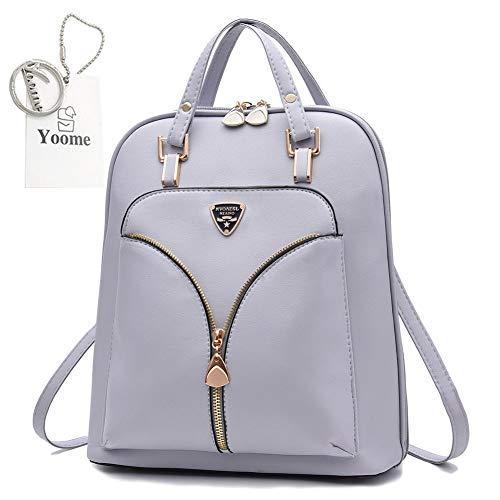 Yoome Zaino in pelle stile Euramerican per borsa da viaggio daypack da donna