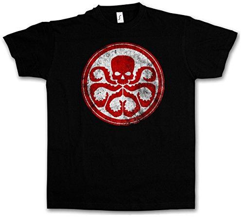 HYDRA VINTAGE LOGO II T-SHIRT - Nick Marvel Agent SHIELD Fury Comic Movie Shirt Größen S - 5XL (M) (Die Agenten Von Shield)