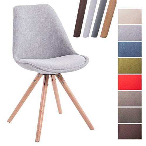 CLP Design Retro-Stuhl Toulouse Rund mit Stoffbezug und hochwertigem Sitzpolster I Lehnstu