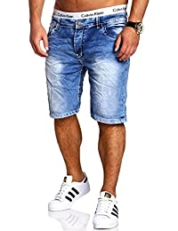 MT Styles Vintage Jeans-Bermuda Shorts Blau RJ-2294