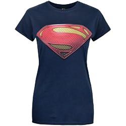 Official Superman Man of Steel Women's T-Shirt (L)